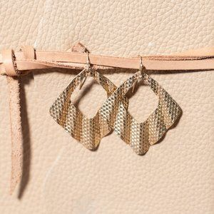 Wavy Gold Textured Earrings